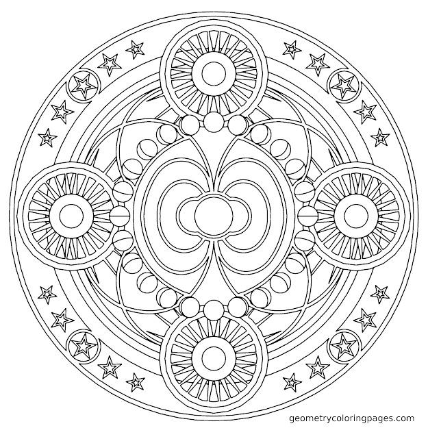 Geometric Mandala Coloring Pages Tattoo