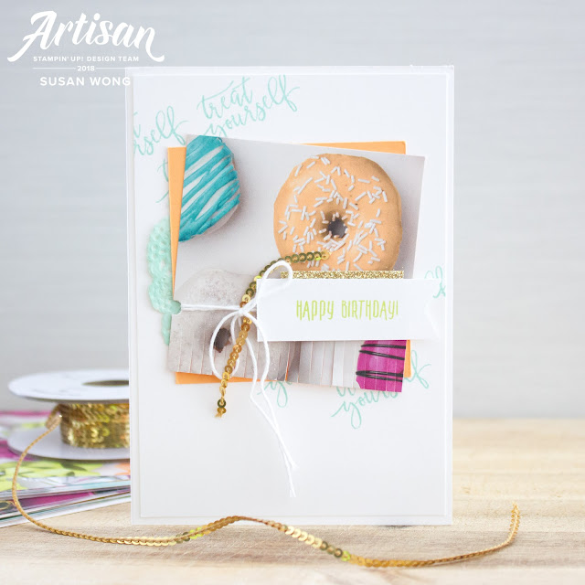 Easy handmade birthday card with Picture Perfect Birthday by Stampin' Up! - Susan Wong
