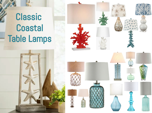Classic Coastal Theme Table Lamps