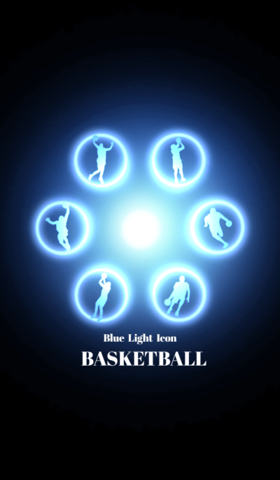 Blue Light Icon BASKETBALL Ver.2