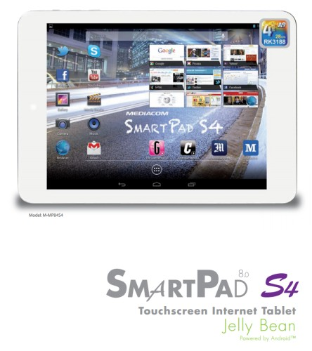 In arrivo i nuovi tablet da 8 pollici mediacom con processore Quad core Cortex A9