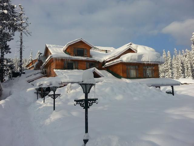 Snow fall winter Gulmarg