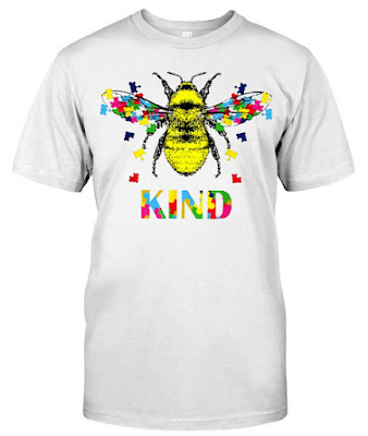 Bee Kind Be Kind Autism Jigsaw T Shirts Hoodie Sweatshirt