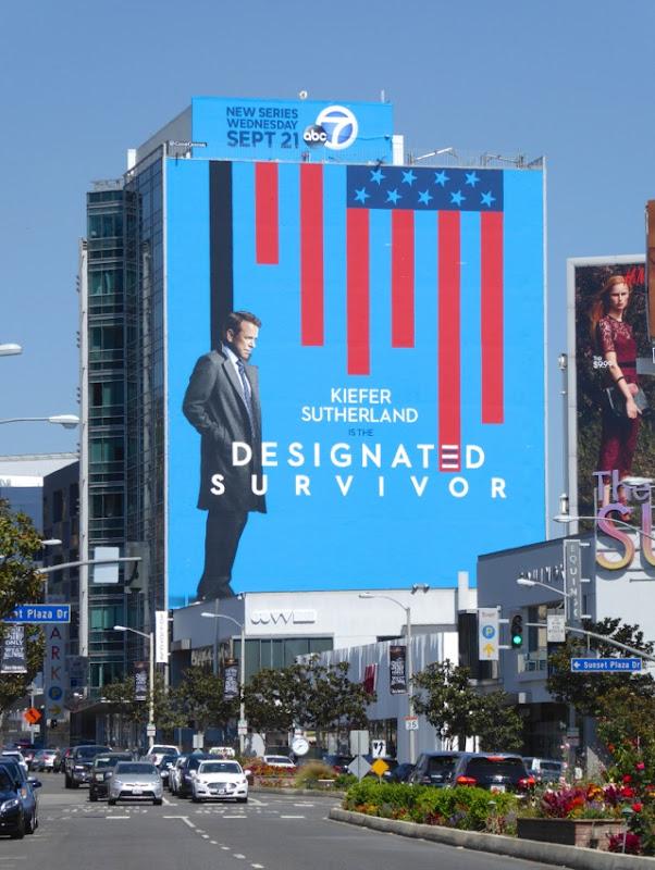 Giant Designated Survivor series launch billboard