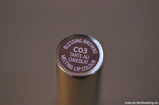 Review: CATRICE Blessing Browns - lecker schokoladig! - Melting Lip Colours C03 - www.annitschkasblog.de