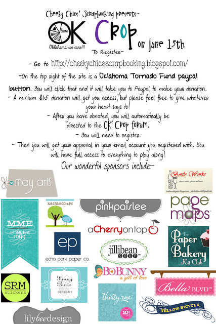 Oklahoma Online Crop Benefit Cheeky Chic Scrapbooking