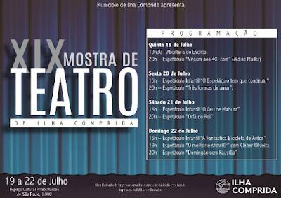 XIX Mostra de Teatro da Ilha traz para a praia espetáculos que compõem o circuito das capitais