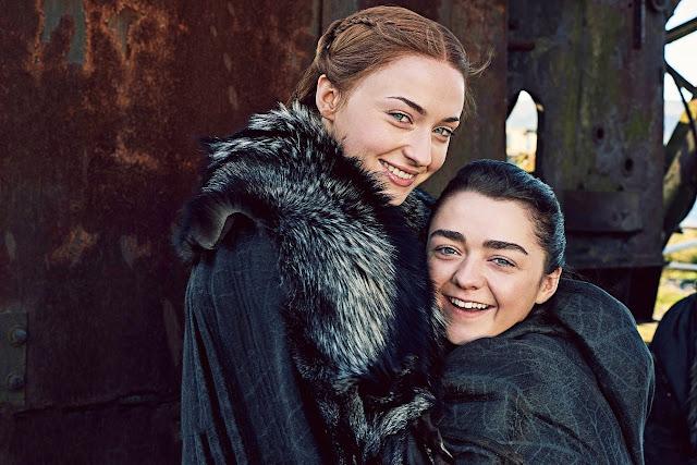 Sansa y Arya, séptima temporada de 'Juego de Tronos'