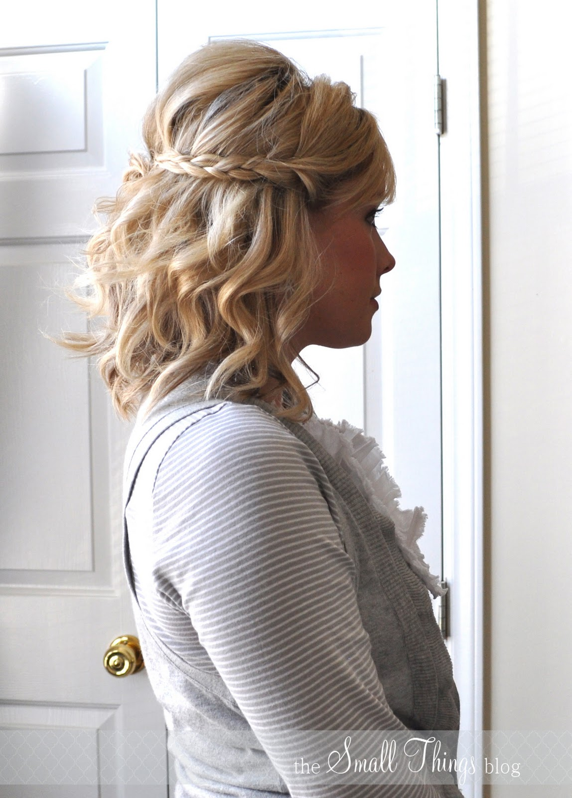 half up braids – the small things blog