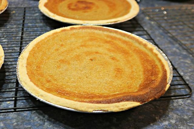 Making 10 pumpkin pies