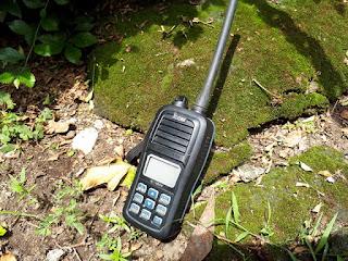 HT Icom IC-M24 VHF Marine Transceiver Seken Mulus Fullset