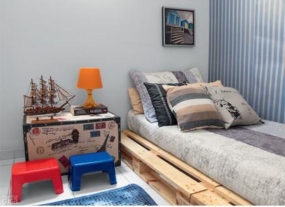 amueblar habitación con muebles de pallets