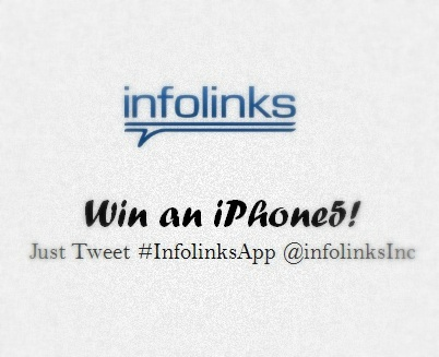 Win a brand new iPhone5 from Infolinks