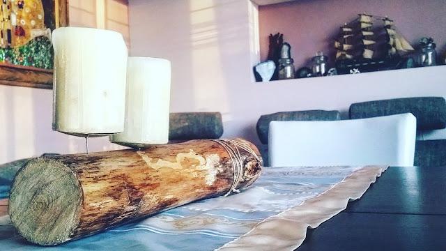 Z czego zrobić świecznik - drewno we wnętrzach