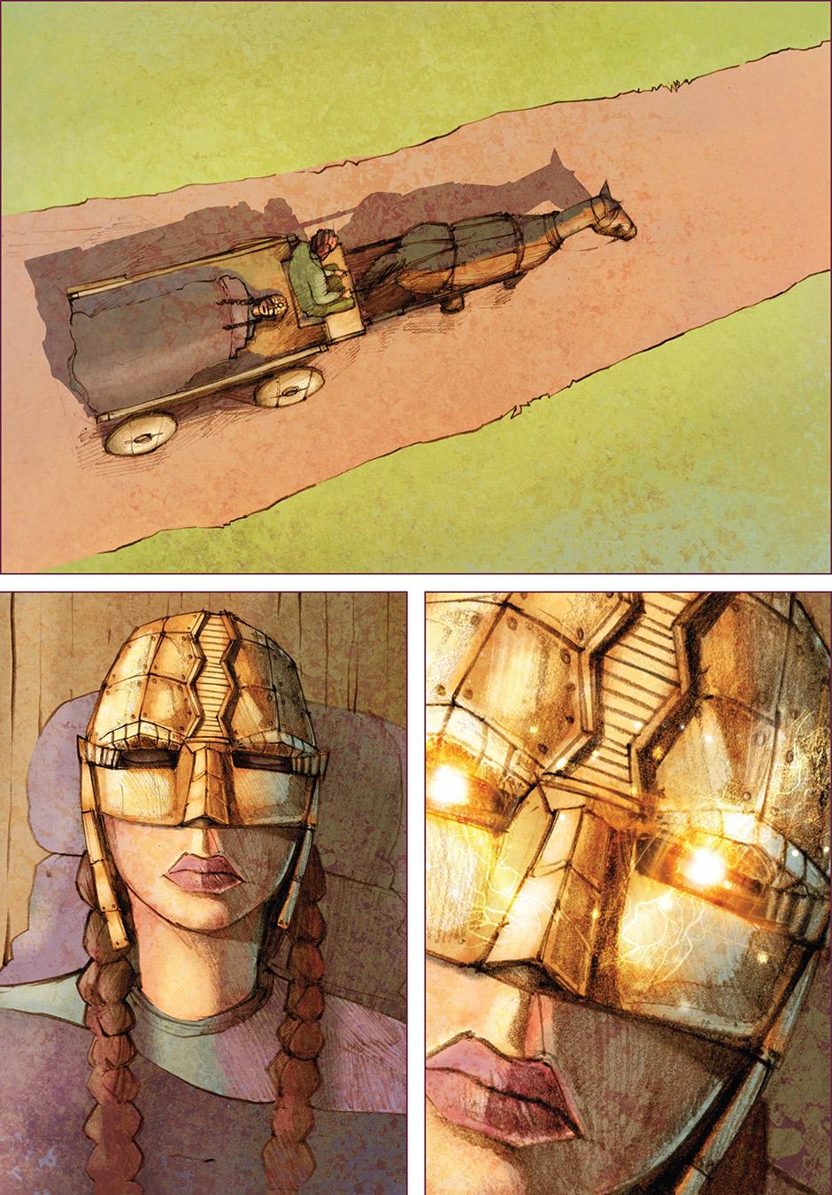 Lian Webcomic - Lian taken away in cart by Wilbur
