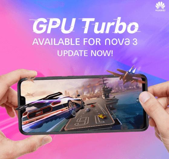 Huawei Nova 3 update adds GPU Turbo