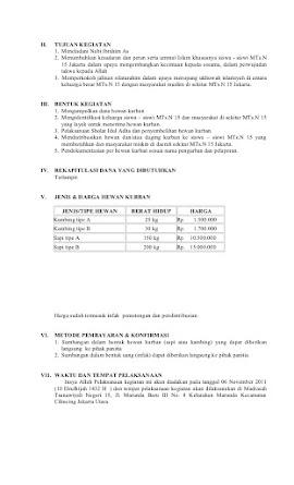 Contoh Proposal Idul Adha