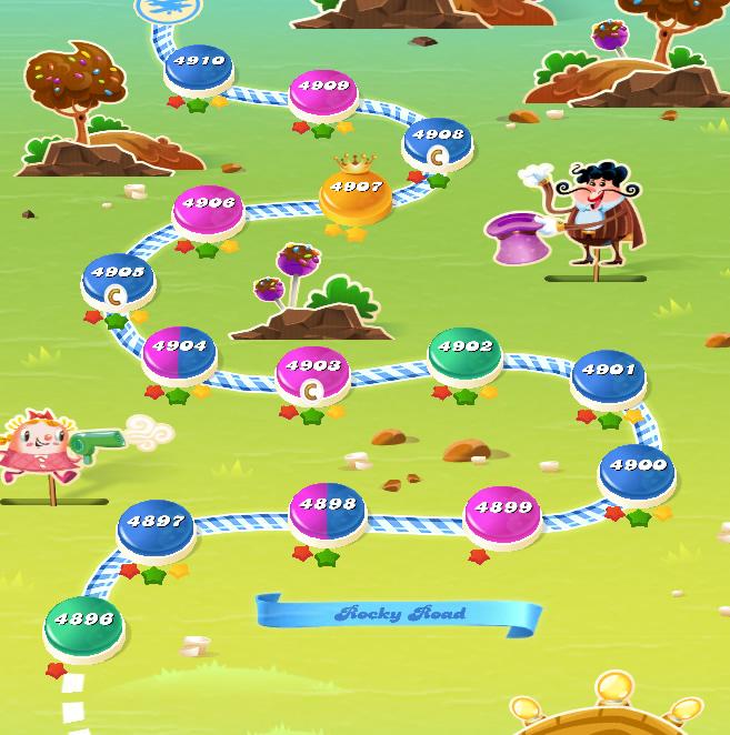 Candy Crush Saga level 4896-4910