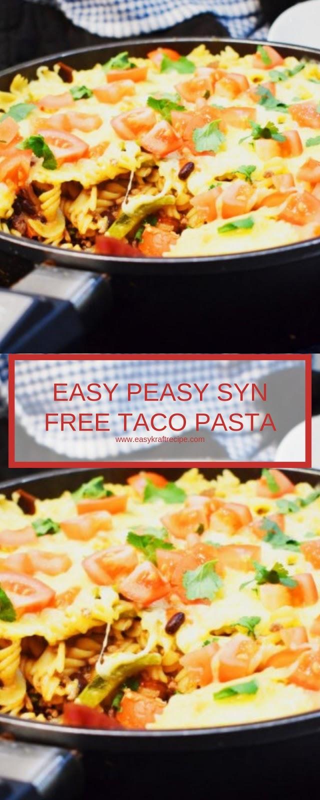 EASY PEASY SYN FREE TACO PASTA