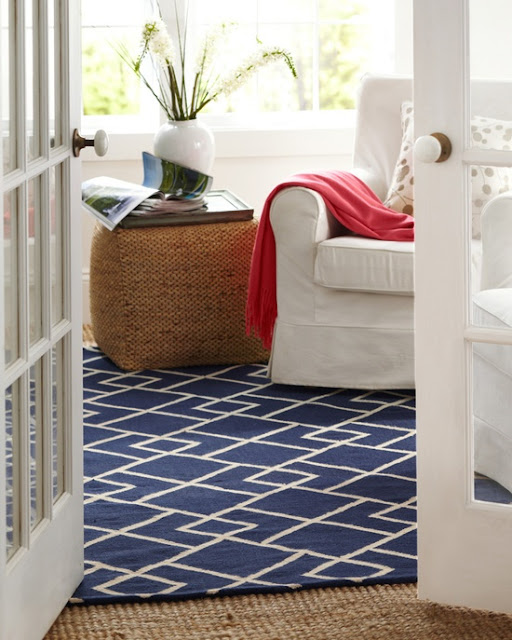 geometric patterned rug