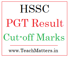 image: HSSC PGT Result, Cut-off Marks and Interview Schedule 2021 @ TeachMatters