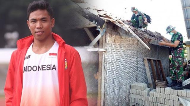 TNI Mulai Renovasi Rumah Lalu Muhammad Zohri, Begini Permintaan Pihak Keluarga