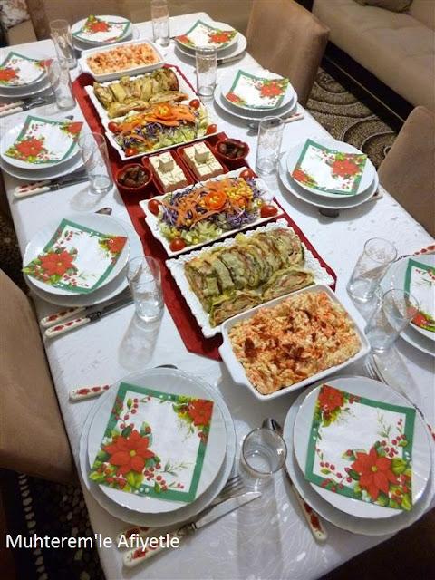 iftar yemeği için yemek menüsü