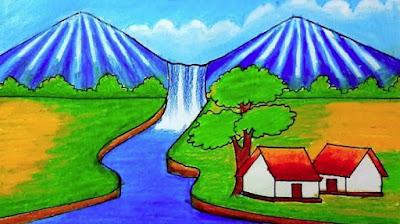 Gambar Montase Pemandangan alam, Contoh Gambar Montase Pemandangan alam