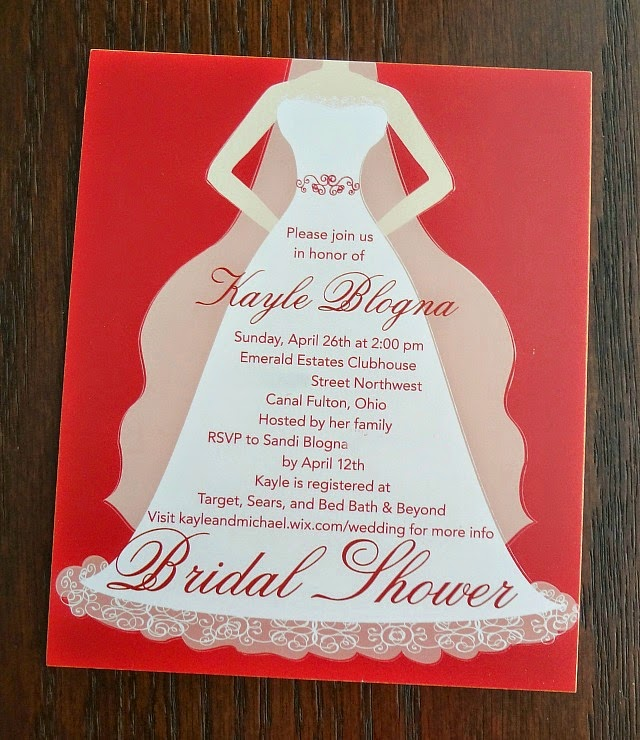 The cooking actress my weddingpaperdivas bridal shower invites using the amazing wedding paper divas website i was able to enter in all the bridal shower information for the invites and customize the color filmwisefo