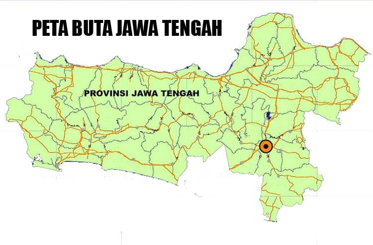 Gambar Peta Buta Jawa Tengah Berwarna