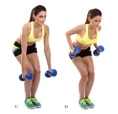 Best Back Workout For Women's- Bent Over Dumbbell Row