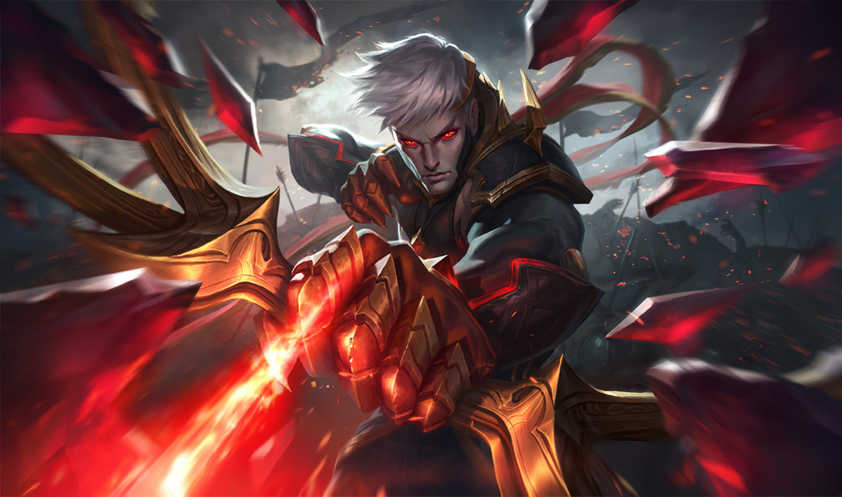 Splash art do Varus Conquistador