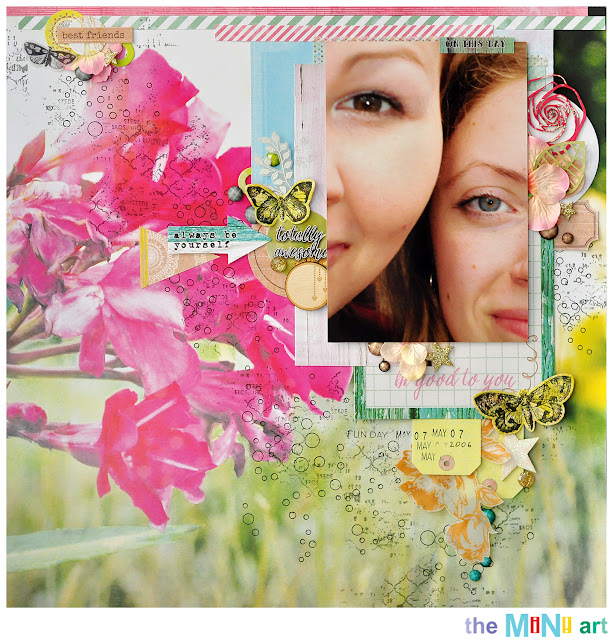 always be yourself |The Mini Art DT @akonitt #layout #by_marina_gridasova #7dotsstudio #scrapbooking