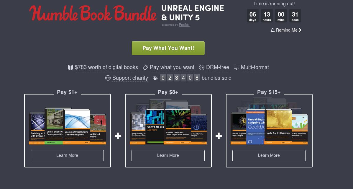 HumbleBookBundle: Libros UE4 y Unity 5 a precios super bajos