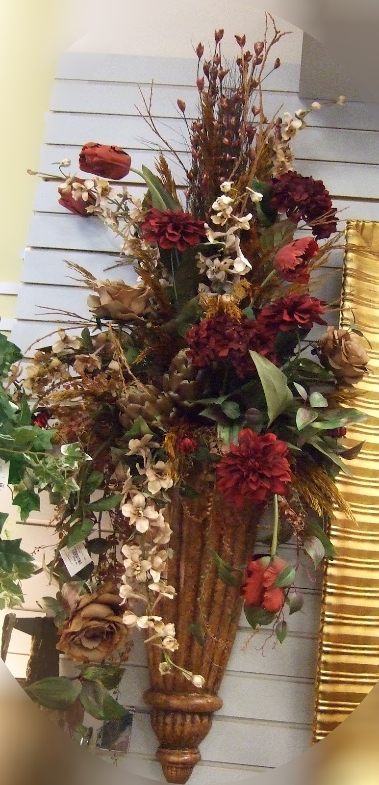 Ana silk flowers imageswall sconces silk flowers arrangements wall sconces silk flowers arrangements mightylinksfo