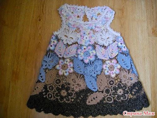 Vestidos de Bebe a Crochet Irlandes