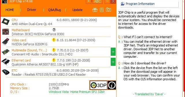 3DP Chip Net Download Free Latest V 18.05 For Windows
