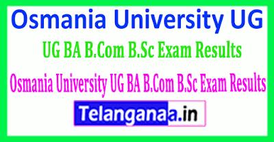 Osmania University UG BA B Com B Sc Revaluation Exam Results