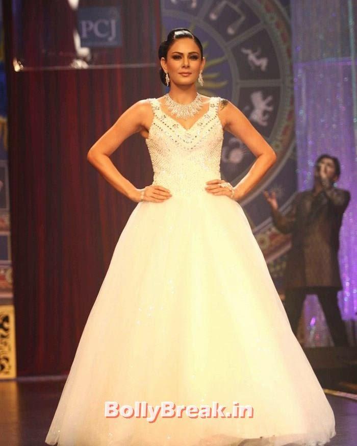 Anchal Kumar, Sonam Kapoor Pics in White Saree - IIJW Finale 2014