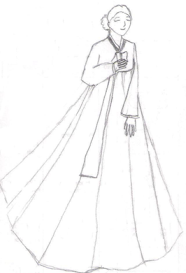 Korean Hanbok Coloring Pages - Korean-hanbok-coloring-pages
