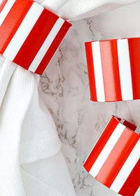 DIY Candy Cane Striped Napkin Rings