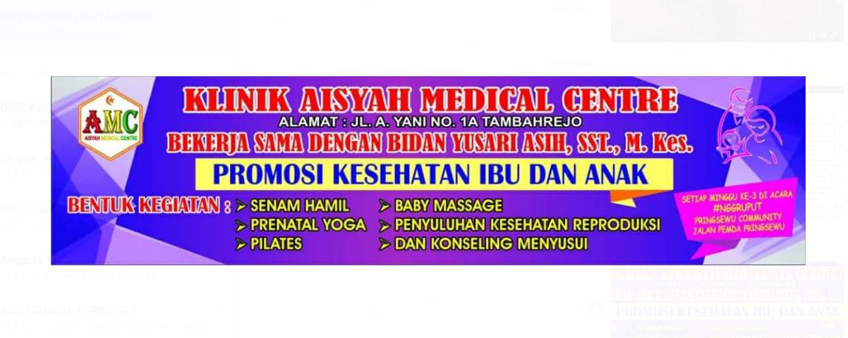 Klinik Aisyah Medical Center Kerja Sama Bidan Yusari Asih, SST.,M.Kes Adakan PromKes di Nggruput