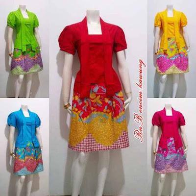Model Baju Mini Dress Batik Wanita Modern Untuk Pesta Pernikahan