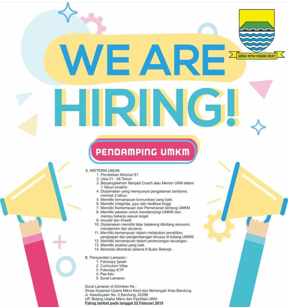 Peluang Karir Pendamping / Fasilitator UMKM dari Kota Bandung