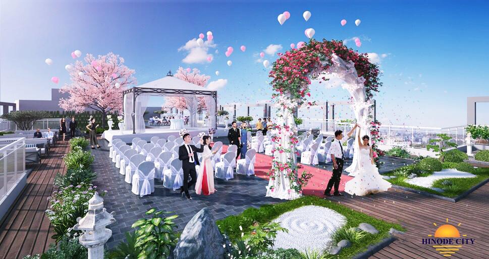 Vườn nhật trên mái của dự án 201 Minh Khai