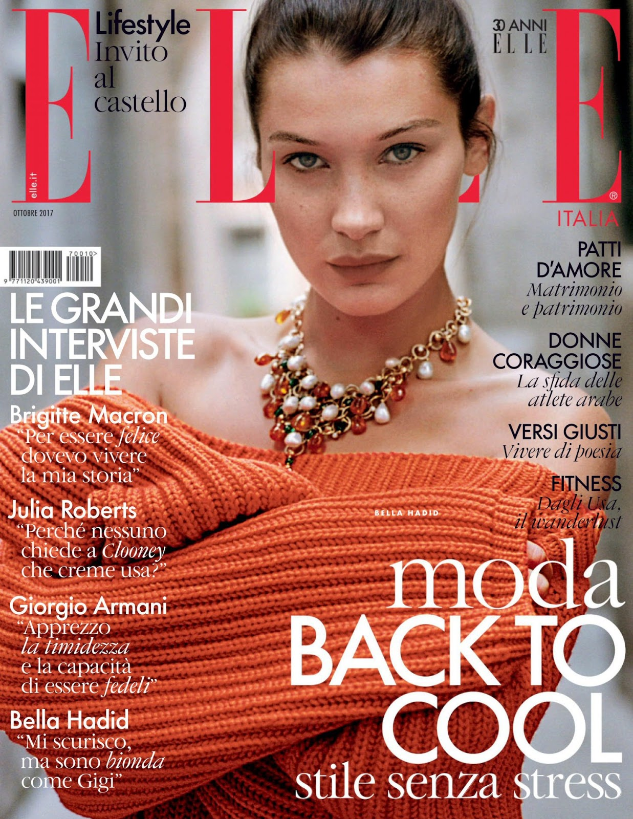 BELLA HADID – ELLE ITALY MAGAZINE (OCTOBER 2017)