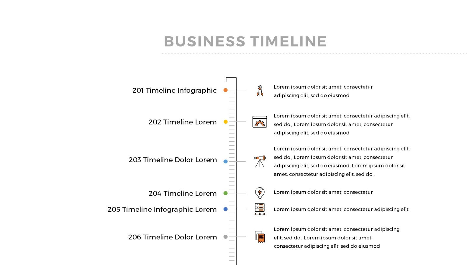 Free Infographic Timeline PowerPoint Template - Infographicon