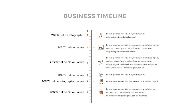 Free Infographic Vertical Timeline PowerPoint Template Slide 1