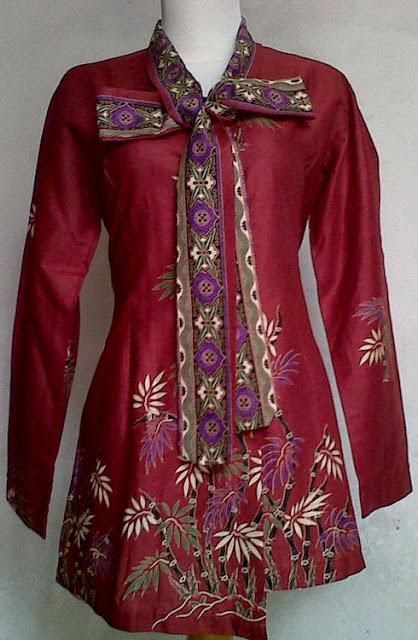 Trend Model Baju Batik Muslim Kerja Terbaru