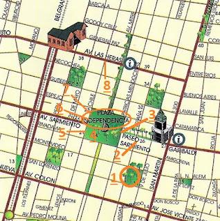 Plazas España e Independencia (Mapa Turístico)